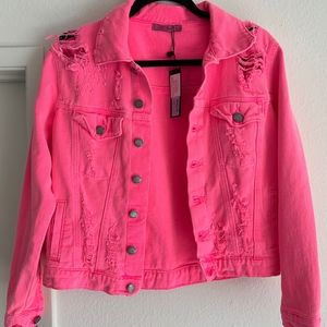 LF / Neon Pink Denim Jacket